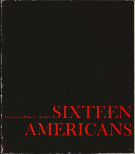 Sixteen Americans catalogue cover