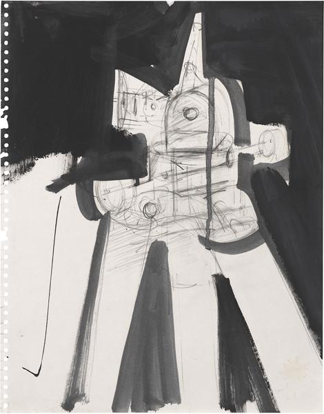 Jay DeFeo, Untitled (Tripod series), c. 1976
