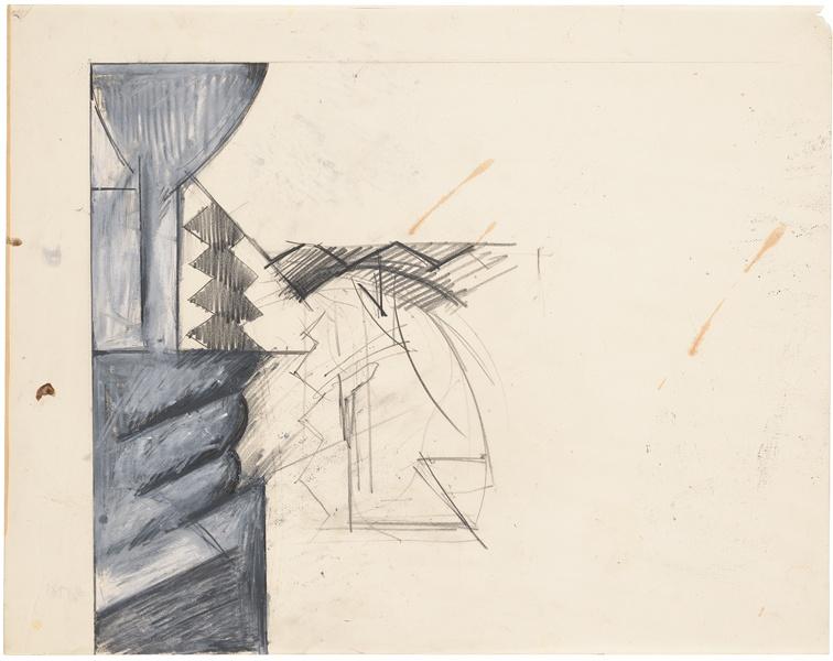 Jay DeFeo, Untitled [Brancusi study], 1982