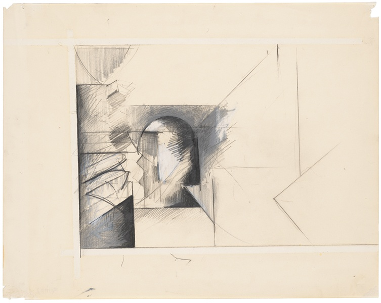 Jay DeFeo, Untitled [Brancusi study], 1982