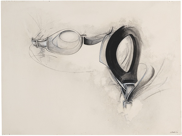 Jay DeFeo, Untitled (Water Goggles series), 1977