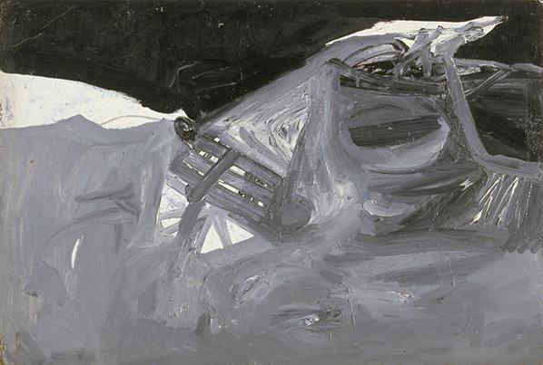 Jay DeFeo, Mountain Landscape, 1955