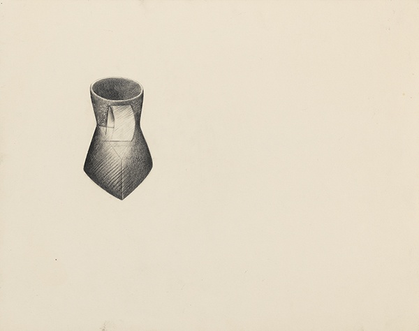 Jay DeFeo, Pink Cup (for R.N.), 1989