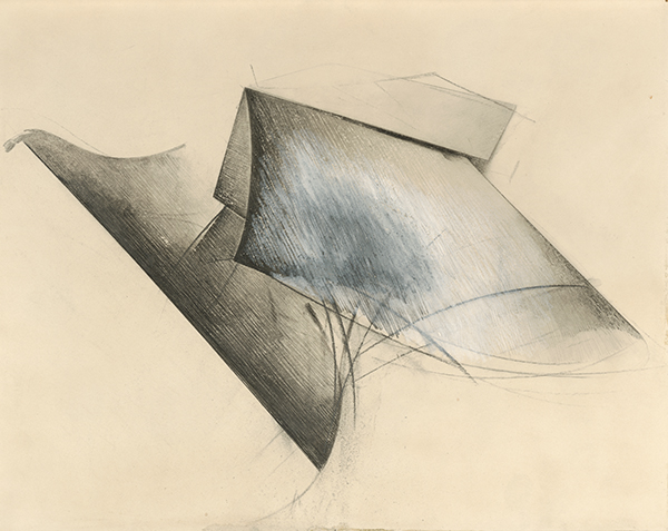 Jay DeFeo, Untitled (Plow, 9H Pencil series), 1981